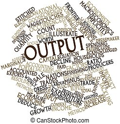 Output - Abstract word cloud for Output with related tags...