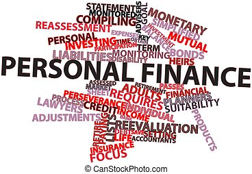 Word cloud for Personal finance - Abstract word cloud for...