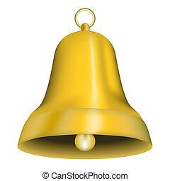 Jingle Bell - Illustration of Golden Christmas Jingle Bell...