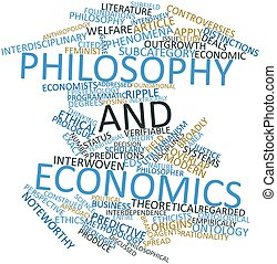 Philosophy and economics - Abstract word cloud for...