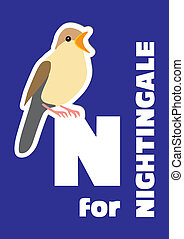 N for the nightingale, an animal al