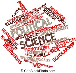 Political science - Abstract word cloud for Political...