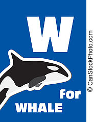 W for the Whale, an animal alphabet