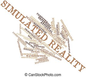 Word cloud for Simulated reality - Abstract word cloud for...