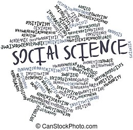 Word cloud for Social science - Abstract word cloud for...