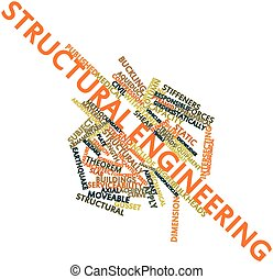 Structural engineering - Abstract word cloud for Structural...