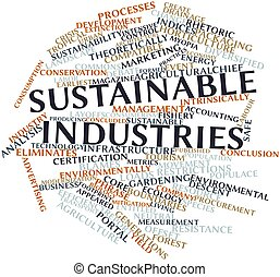 Sustainable industries - Abstract word cloud for Sustainable...