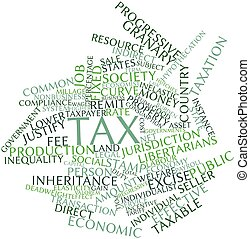 Word cloud for Tax - Abstract word cloud for Tax with...