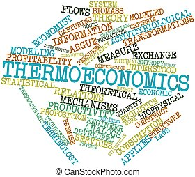 Thermoeconomics - Abstract word cloud for Thermoeconomics...