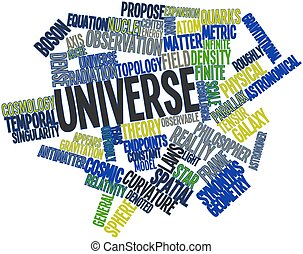 Universe - Abstract word cloud for Universe with related...