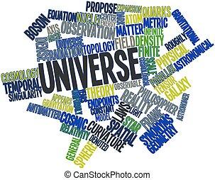 parola, nuvola, universo