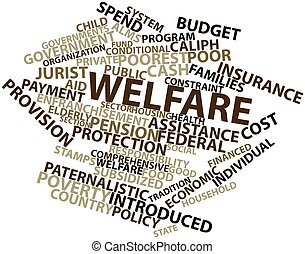 Welfare - Abstract word cloud for Welfare with related tags...