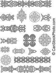 Celtic ornaments and patterns set for embellish and ornate