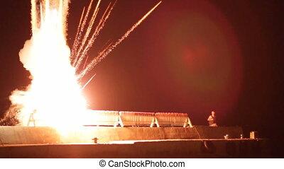 Starting a firework
