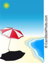 Parasol on the beach - A Parasol on the beach. Near the...