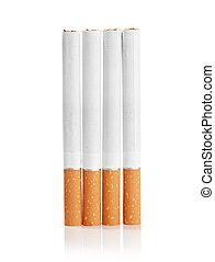 cor, foto, filtro, cigarros, isolado, fundo