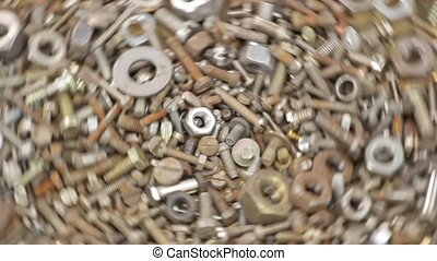 screws and bolts - Closeup of steel screws and bolts