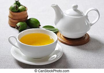 herbario, té, piña, guayaba
