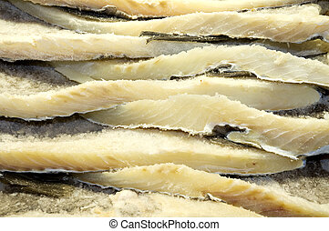 Salted fish - Close up shot of some salted fish