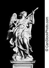 Angel with the Lance on Ponte Sant'Angelo, Rome, Italy