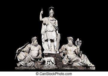 Fontana della Dea Roma tra il Tevere e l'Aniene by Giovanni...