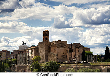 Temple of Venus and Roma - View of the Temple of Venus and...
