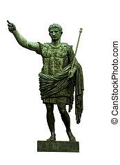 Emperor Caesar Augustus - Bronze statue of emperor Caesar...