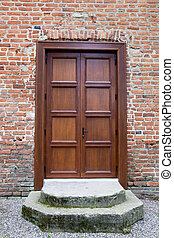 Front door - Wooden front door - the picture was taken in...