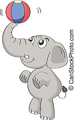 an elephant - illustration of an elephant on a white...