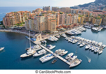 Monte Carlo, Monaco - The Port de Fontveille at Monaco