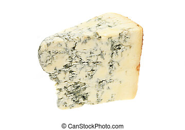 Stilton - Wedge of stilton cheese isolated on white