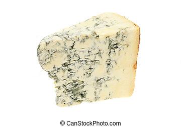 Stilton - Wedge of stilton cheese isolated on white