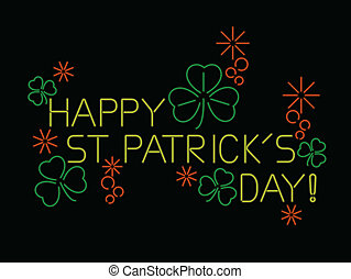 Neon St. Patrick's day sign