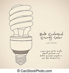 energy saving - Illustration of energy saving bulbs, vector...