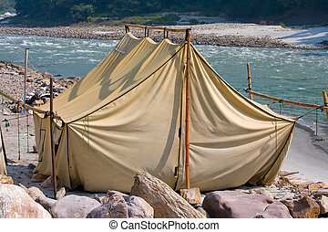Camp at Ganges river Uttarakhand, India