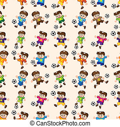 seamless soccer player pattern