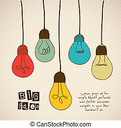 Idea icon - Illustration of differents types of bulbs with...