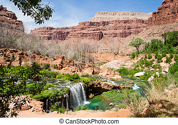 Havasu - One of many beautiful waterfalls in the Havasu area...