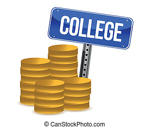 college savings illustration design over a white background