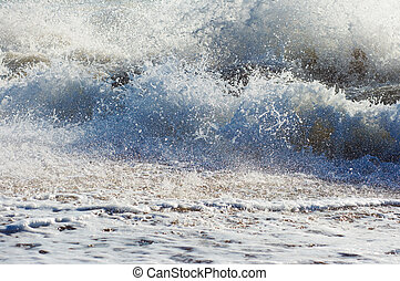 Sea surf wave - Sea surf great wave break on coastline