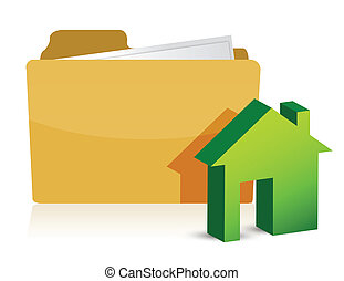 home paperwork illustration design over a white background