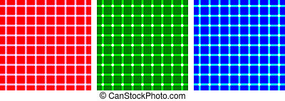RGB Optical illusions - Dark and white spots seem to appear...