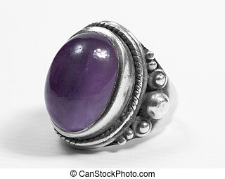 purple ring - purple big ring on white isolated background