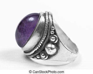purple ring profile - purple profile big ring on white...