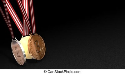 Medal winner - Sport medals animation, matte included