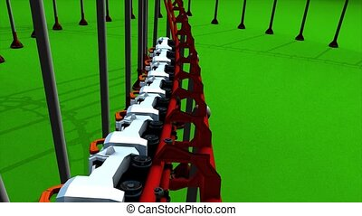 Roller coaster - Fun park roller coaster animation.