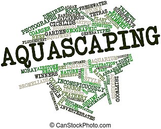 Aquascaping - Abstract word cloud for Aquascaping with...