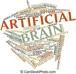 Artificial brain - Abstract word cloud for Artificial brain...
