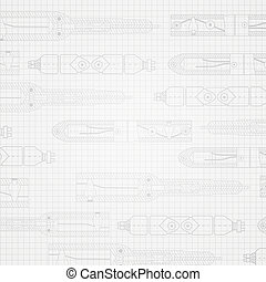 Sketch of the shaft of a centrifugal pump. Vector...