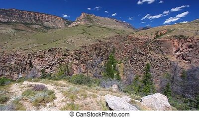 Rugged Mountain Scenery of Wyoming - Rugged mountain scenery...